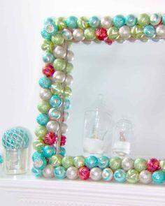 Ornament Mirror - craft a festive reflection