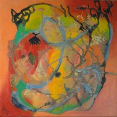 Orange 4, Acrylic on canvas, 40 cm x 40 cm