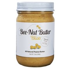 Bee-Nut Butter Bliss Sea Salt Peanut Butter 12 oz.