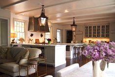 kitchen - long view from banquette www.gardenvarietydesign.com