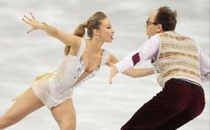 Nelli Zhiganshina and Alexander Gazsi of Germany compete in the team ice dance short dance figure skating competition at the Iceberg Skating...