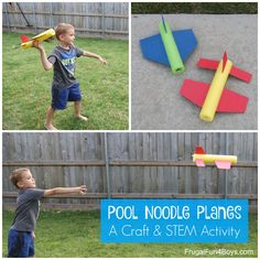 These pool noodle planes will really fly! – Frugal Fun For Boys and Girls