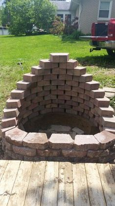 how to build an outdoor fireplace with cinder blocks ... on Cinder Block Fireplace Diy  id=75031