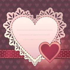 Sweet Valentine Day hearts Cards vector 02