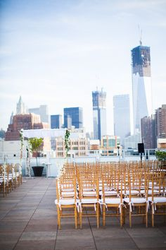 Tribeca Rooftop Wedding From Lauren Gabrielle Photography