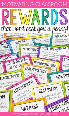 Classroom rewards don't have to cost a lot of money Reward coupons for the classroom focus on rewarding students with privileges that make them feel special. Forget prizes! Throw away that treasure box! Students will thrive on the positivity and choices these coupons bring to your classroom. Revolutionize your classroom management with reward coupons that actually motivate your students and teach them the power of intrinsic motivation!  Your students will love the variety of choices, and you…