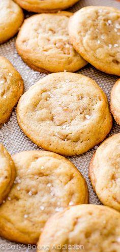 Salted Vanilla Toffee Cookies from sallysbakingaddiction.com