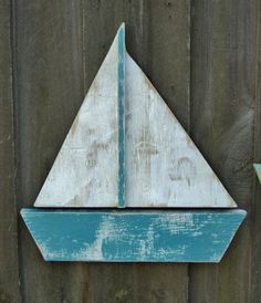 Weathered Sail Boat Lake House Decor by