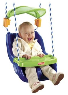 $41.99-$41.99 Baby The Infant to Toddler Swing is an outdoor swing that spans the development of a child from infant to toddler. It now features an adjustable canopy that provides little ones protection from the sun. The swing easily reclines, if desired, for use by children 6 months old. The swing also has a tray to hold snacks or small toys.What's even better than enjoying swing-time fun in fr ...