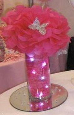 Pink flower centerpiece