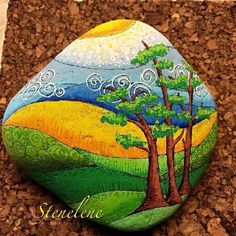 Easy Paint Rock For Try at Home (Stone Art & Rock Painting Rock Painting Ideas Easy, Rock Painting Designs, Painting Patterns, Pebble Painting, Pebble Art, Stone Painting, Painting Art, Stone Crafts, Rock Crafts