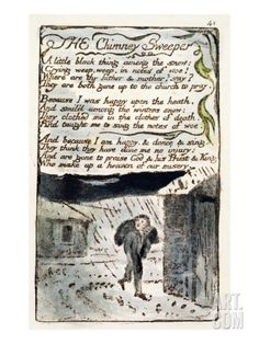 The Chimney Sweeper', Plate 41 (Bentley 37) from 'Songs of Innocence and of Experience' Giclee Print by William Blake at Art.com