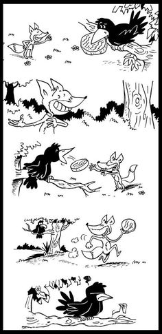 Afbeeldingsresultaat voor Le corbeau et le renard Sequencing Pictures, Story Sequencing, Writing Skills, Writing Prompts, Picture Story Writing, Fairy Tale Activities, Drama Education, Les Fables, Material Didático