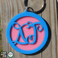 Delta Gamma Greek Licensed Script Keychain by TheMCL.co http://mycapitalletters.com