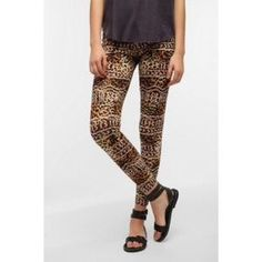 I just discovered this while shopping on Poshmark: Urban Outfitters Leopard Leggings- Small. Check it out!  Size: S