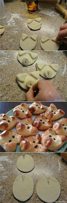 ideas bread rolls shapes recipes for Cute Food, Good Food, Yummy Food, Bread Recipes, Cooking Recipes, Bread Art, Snacks Für Party, Pig Party, Food Decoration