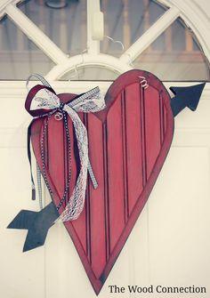 The Wood Connection: Heart & Arrow Door Hang