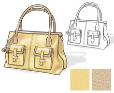 Handbag Illustration with Flats by Eugene Czarnecki at Coroflot.com