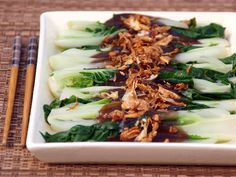 Bok Coy in Oyster Sauce is a very popular vegetable side dish in Chinese Cuisines it is usually served as an accompaniment to dishes like roast pork, roast chicken, barbecue pork, Hainanese chicken rice to name some.