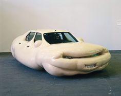 Sculpture by Erwin Wurm. Weird Cars, Cool Cars, Crazy Cars, Erwin Wurm, Modern Art, Contemporary Art, Unique Cars, Japanese Cars, Car Humor