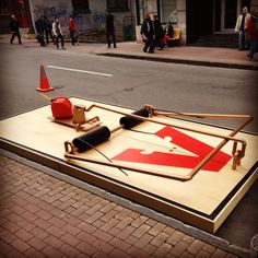 BING BANG POUF | Giant mousetrap for park(ing) day, Quebec - ABCP architecture