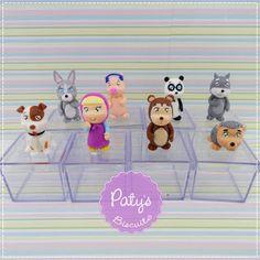 Caixinhas decoradas Masha e o Urso  - Festa Infantil - Paty's Biscuit