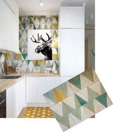 Crédence géométrique Kitchen wall