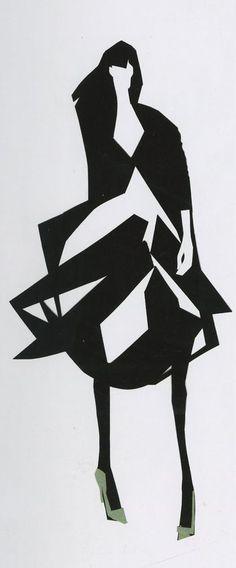 Fashion illustration by James Thomas. (il)