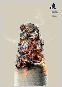 Creative anti-smoking #poster by Selena Castro.