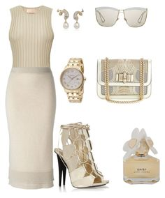 """""""Untitled #497"""" by styledbyhkc ❤ liked on Polyvore featuring Brock Collection, Victoria Beckham, Giuseppe Zanotti, Christian Louboutin, Christian Dior, Versace and Marc by Marc Jacobs"""