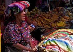 Mercado em Chichicastenango, na Guatemala.