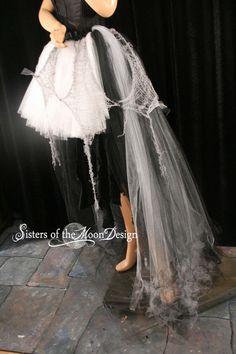 where getting ready for halloween over here! Adult tutu skirt creep graveyard ghost zombie costume Halloween trail wedding Apocalypse ripped torn - You Choose Size -- Sisters of the Moo