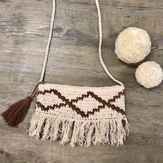 Brooke Crochet Bag in Sienna Leather Tooling, Leather Clutch, Boho Bags, Vintage Leather, Rattan, Tassel Necklace, Purses And Bags, Wallets, Bamboo