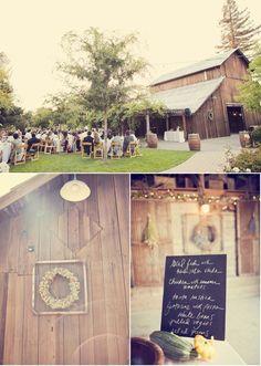 Barn wedding at Healdsburg Country Gardens