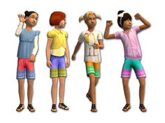 Mod The Sims - Comfy Shorts & Sandals
