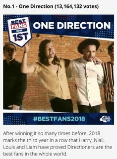 We won Best Fans for the 3rd year in a row! So so proud of us. ✨