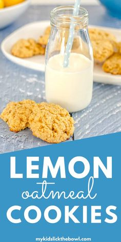 Healthy lemon oatmeal cookies, so easy to make flavoured with lemon honey and coconut, a soft cookie that my family loves Healthy Oat Cookies, Coconut Cookies, Lemon Cookies, Oatmeal Cookies, Low Sugar Snacks, Low Sugar Recipes, No Sugar Foods, Baby Food Recipes, Kid Recipes