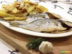 Orata al forno con patate  #ricette #food #recipes