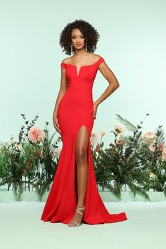 A fabulous red dress from Zoey Grey