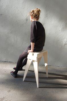Ožka. Goat stool by Austeja Platukyte, via Behance