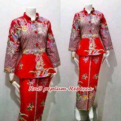 Batiklike print peplum blouse  minimal  Lady  Pinterest