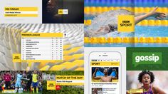 The BBC has ditched Gill Sans and replaced it with BBC Reith, which will roll out to all sub-brands starting with BBC Sport. Bbc, Branding, Brand Identity, Gill Sans, Mo Farah, Match Of The Day, Gold Medal Winners, Digital Web, Sport One