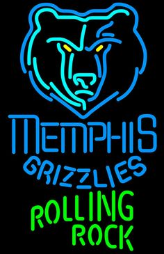 Rolling Rock Memphis Grizzlies NBA Neon Beer Sign, Rolling Rock with NBA Neon Signs | Beer with Sports Signs. Makes a great gift. High impact, eye catching, real glass tube neon sign. In stock. Ships in 5 days or less. Brand New Indoor Neon Sign. Neon Tube thickness is 9MM. All Neon Signs have 1 year warranty and 0% breakage guarantee.