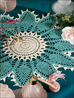 Crochet Doilies - Pineapple Doily Crochet Patterns - Caprice Doily