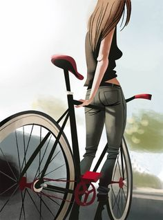 fixie art - For more great pics, follow www.bikeengines.com