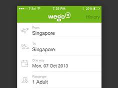 Wego Flight Search iOS7 (gif) by Bady