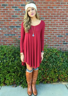 Red T-Shirt Dresses