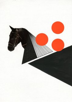 """Black Horse,"" original collage. $30. oelwein.etsy.com"