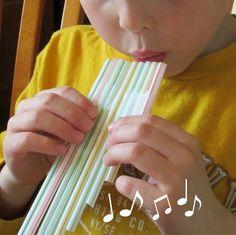 Flauta de pan casera con pajitas | Manualidades para niños
