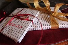 Crossword Word Search wrapping paper
